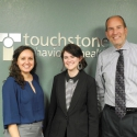 Left to Right: Elia Simon, MC, LPC, Kim Egan, M.A.E.d, LPC, and Steve Ginsberg, Chief Executive Officer, Touchstone Behavioral Health