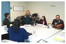 Monica Zarate provides training to JCCA staff